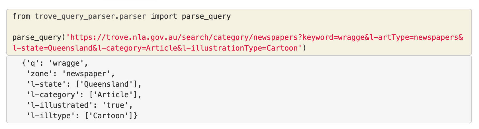 How to use the Trove Query Parser.
